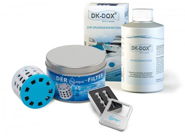 Set 1: ae-aqua Filter C2-50 + ae-aqua Kapseln K1-3, 4er Set + DK-DOX AKTIV BASIC